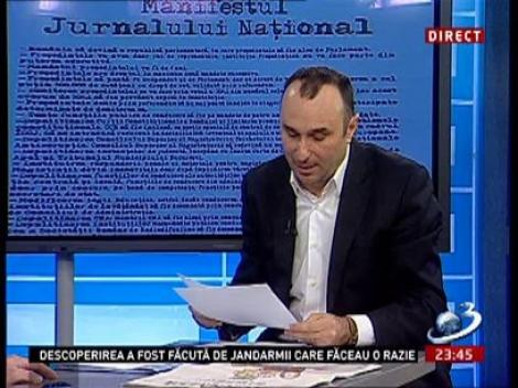 Marius Tucă condamnă jurnaliştii, pentru felul în care au tratat subiectul cu moartea lui Nicolaescu