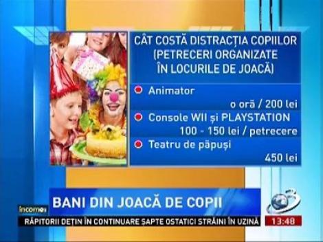 Petrecerile organizate în locurile de joacă pentru copii, o afacere profitabilă