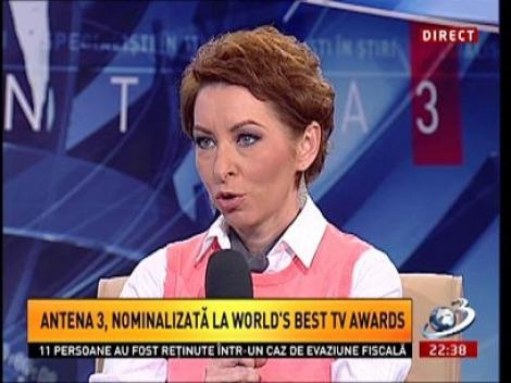 Carmen Moise, despre nominalizările la  World's Best TV Awards