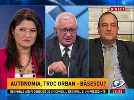 Gyorgy Frunda: Spuneţi-mi care este problema? Vine secuiul de la Miercurea Ciuc şi ia o bucată din Hargita şi o duce la Budapesta?
