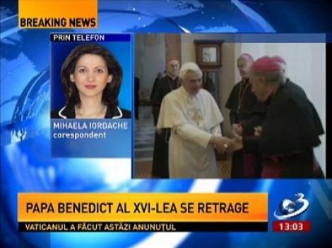 Papa Benedict al XVI-lea şi-a anunţat retragerea. Ultima demisie a unui Papă a avut loc în 1415