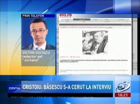 Victor Ciutacu: Văd că domnul Cristoiu are o problemă că președintele nu s-a invitat la emisiunea sa, ci la ăla micu'