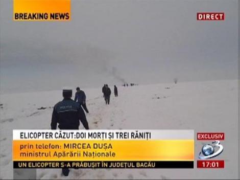 Mircea Duşa, despre elicopterul căzut la Bacău