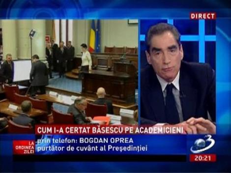 Află aici de ce a plecat Traian Băsescu de la Academie, fără să asculte şi alte opinii