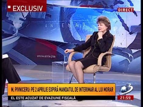 Mona Pivniceru: Pe 2 aprilie expiră mandatul de interimar a lui Morar