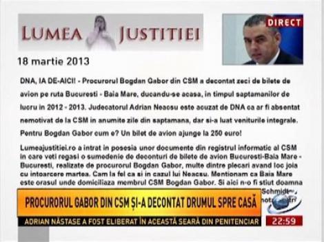 Procurorul Bogdan Gabor din CSM a decontat zeci de bilete de avion pe ruta Bucuresti-Baia Mare