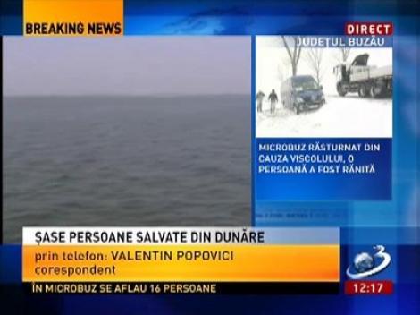 6 cetățeni germani care veniseră în România pentru caiac-canoe, au fost salvați pe Dunăre