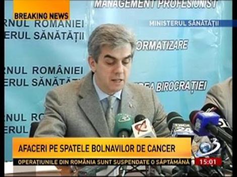 Afaceri pe spatele bolnavilor de cancer. Exporturile de citostatice, suspendate