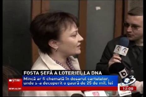 Fosta şefă a Loteriei Române, audiată la DNA