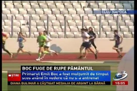 Emil Boc fuge de rupe pământul! A alergat 6 km în mai puţin de 35 de minute