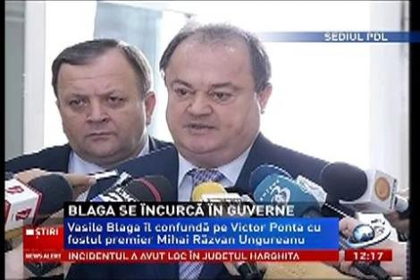 Vasile Blaga l-a confundat pe Victor Ponta cu Mihai Răzvan Ungureanu