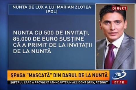 """Peste 85.000 euro, """"dar de nuntă"""". Aşa explică fostul şef al ANSVSA suma reclamată de ANI"""