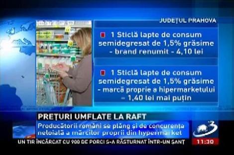Cel puţin jumătate din preţul unui aliment reprezintă taxele impuse de marile lanţuri de magazine