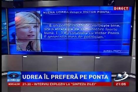 Udrea îl preferă pe Ponta