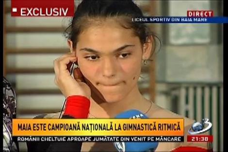 Maia, campioana la gimnastică ritmică, în direct la Sinteza zilei