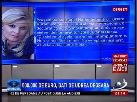 500.000 de euro, aruncaţi pe fereastră de Elena Udrea