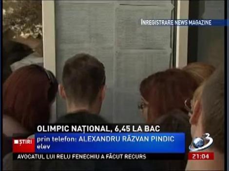 Incredibil! Un olimpic naţional la română a luat 6,45 la BAC