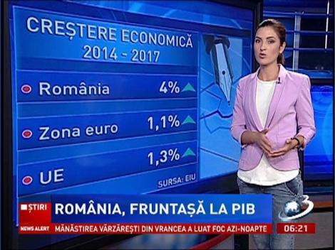 România, pe locul trei în Europa în clasamentul creşterii economice