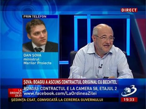 Șova: Boagiu a ascuns contractul original cu Bechtel