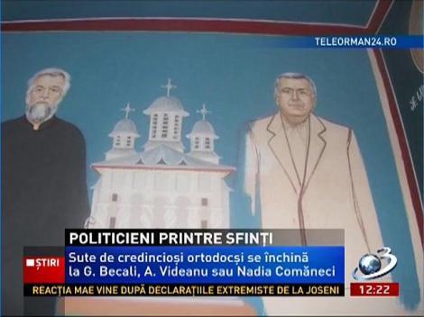Politicieni şi personalităţi printre sfinţi, în bisericile din România