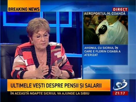 Mariana Câmpeanu, despre mărirea pensiilor la cei cu grupele 1 şi 2 de muncă