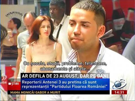 Farsă marca Antena 3! Românii ar defila pe 23 august, dar pe bani