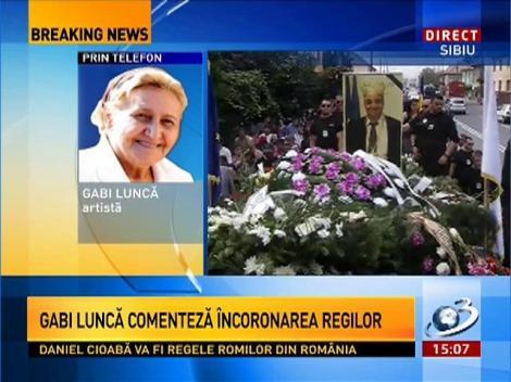 Artista Gabi Luncă, despre încoronarea regilor: E un circ!