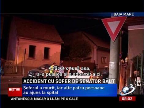 Accident grav la Baia Mare! Şoferul unui senator s-a urcat beat la volan