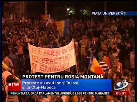 10.000 de oameni au protestat în Bucureşti ÎMPOTRIVA proiectului de la Roşia Montană