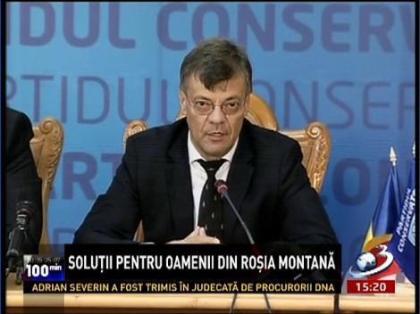 Parlamentarii PC propun ca exploatarea de la Roşia Montană să fie făcută de o companie specializată a statului român