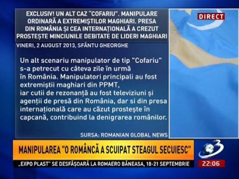 """Sinteza Zilei: Manipularea """"o româncă a scuipat steagul secuiesc"""""""