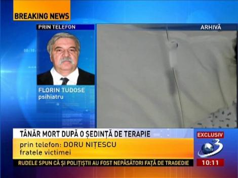 Dănuţ Dinu, purtător de cuvânt IPJ Argeş, despre cazul tânărului mort în urma unei şedinţe de terapie
