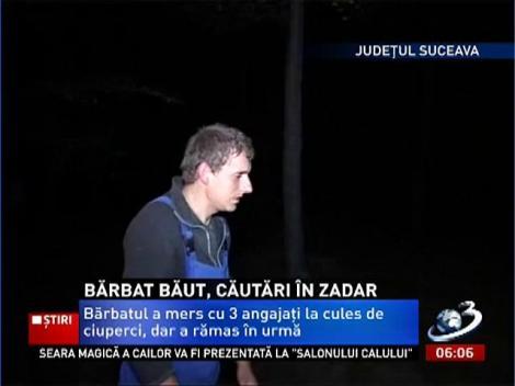 Un om de afaceri a dispărut în pădurile din zona Gura Humorului şi a fost găsit beat şi cu o mână ruptă
