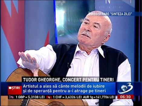 Tudor Gheorghe, concert pentru tineri