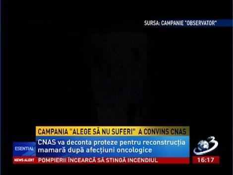 """Campania """"Alege să nu suferi"""" a convins CNAS"""