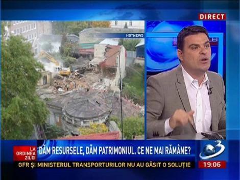Radu Tudor, despre demolarea caselor de patrimoniu: E mai mult decât un sentiment de revoltă