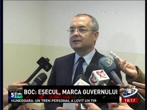 Emil Boc acuză Guvernul Ponta de eşec pe toate planurile