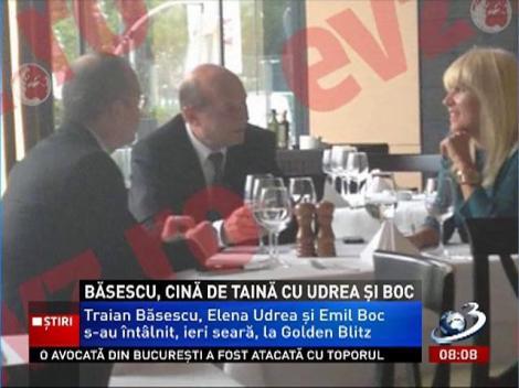 Băsescu, cină de taină cu Udrea şi Boc
