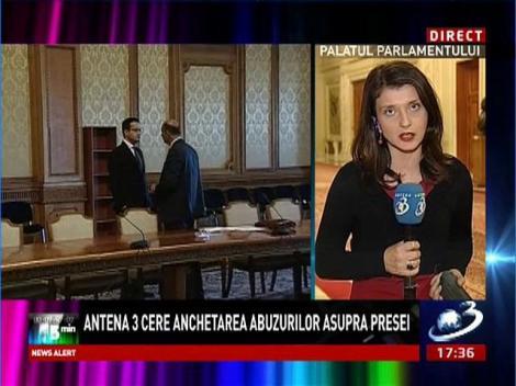 Antena 3 cere anchetarea abuzurilor presei