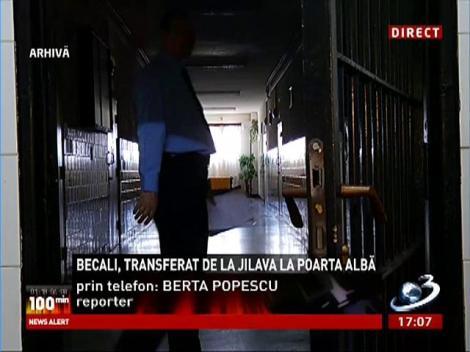 Gigi Becali a fost tranferat la Penitenciarul Poarta Albă
