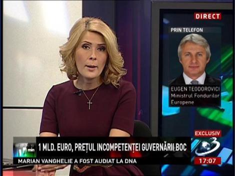 Eugen Teodorovici, despre prețul incompetenței guvernării Boc