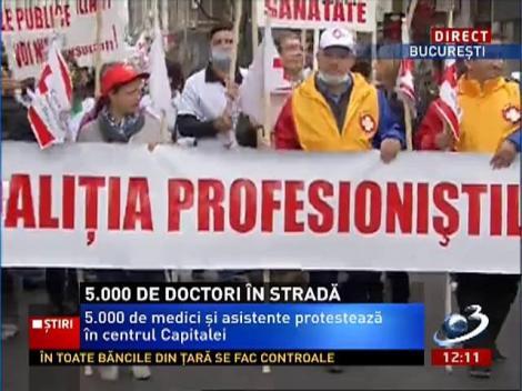 Protestul medicilor. 5.000 de doctori în stradă