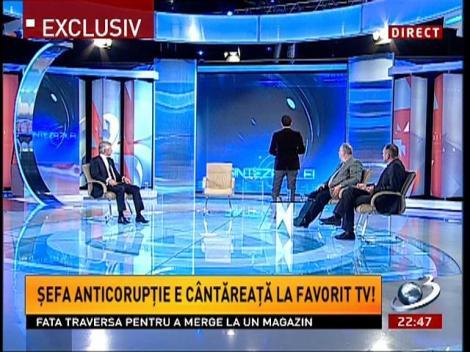 Șefa Anticorupție e cantăreață la Favorit Tv