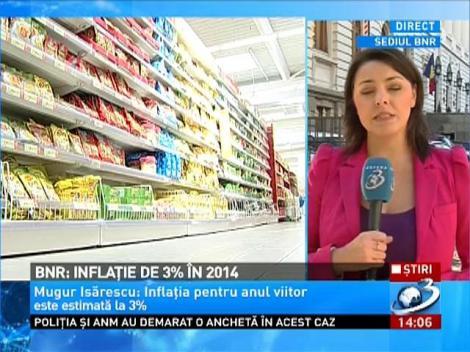 BNR: Inflaţie de 3% în 2014