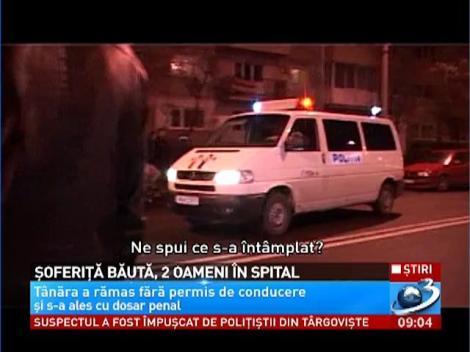 O şoferiţă beată din Baia Mare a băgat doi oameni în spital