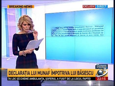 Munaf recunoaşte că a dat bani unor înalţi oficiali români