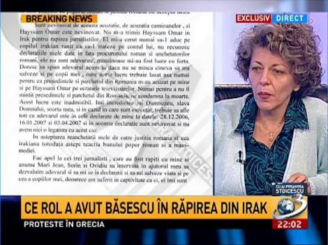 Adina Anghelescu: Munaf rămâne un personaj cheie