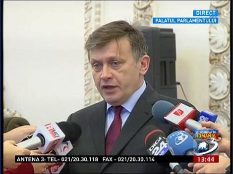 Crin Antonescu, declaratii la Palatul Parlamentului