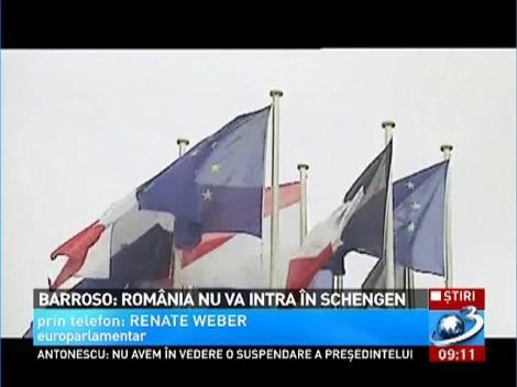 România va sta afara din Schengen şi anul viitor. Anunţul a fost făcut de Jose Manuel Barroso