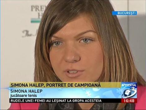Campioana de tenis Simona Halep, despre succesul său